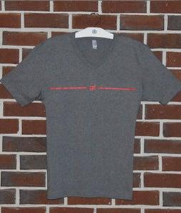 Image of Dark Grey V-neck Not Equals T-shirt