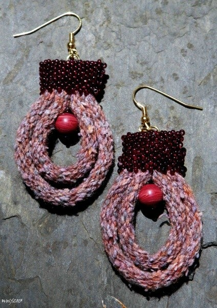 Image of SALE! Red Planet, handmade kumihimo set