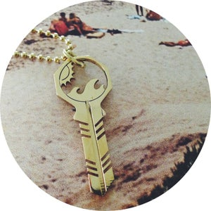 Image of KEY NECKLACE /// Sun + Salt