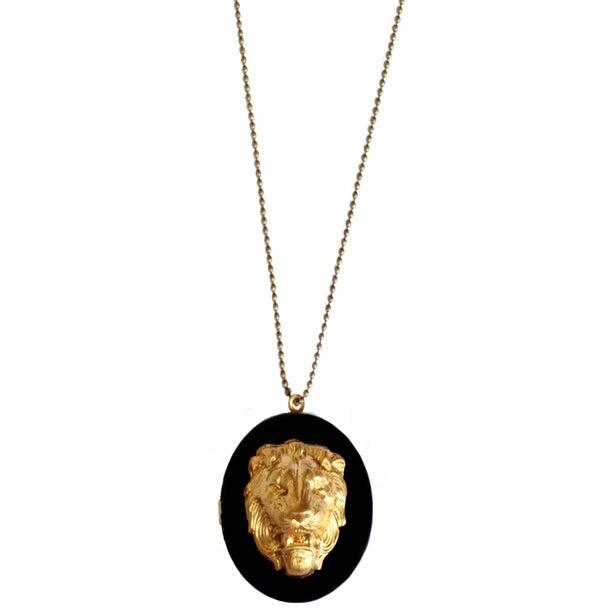 Sautoir medaillon lion - idées cadeaux