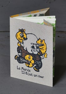 "Image of ""LA MARIÉE ÉTAIT UN NOIR"" by DAVID SNUG (2013) Screenprinted Book"
