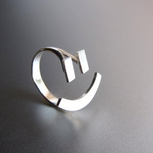 Image of Happy Face Ring =) - Handmade Silver Ring
