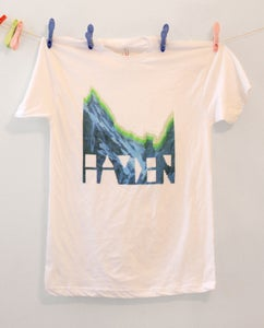 Image of Mountain White Crew Neck Shirt