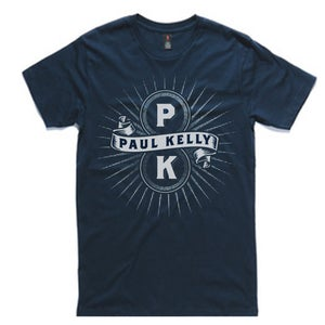 Image of Navy 'PK' Tee