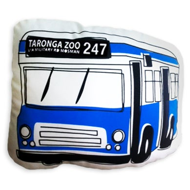Image of 247 Taronga Zoo Bus Shaped Cushion