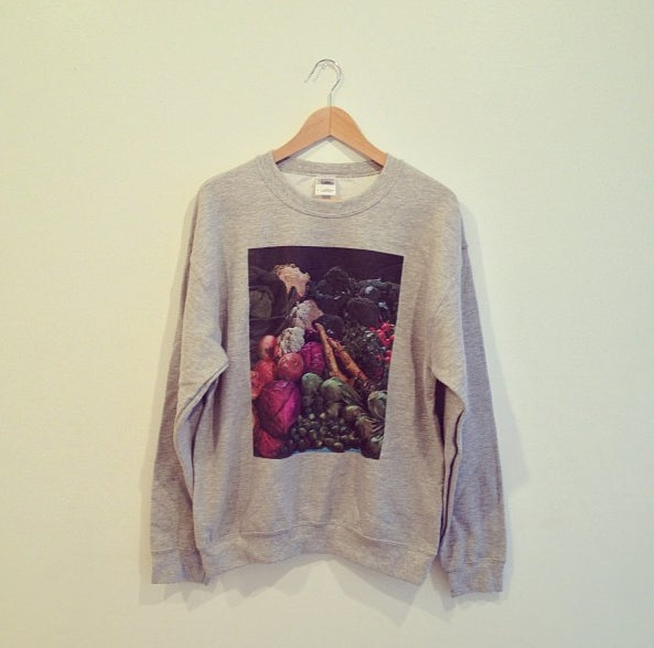 Image of Vegetables Crewneck Sweatshirt (Black or Heather Grey)