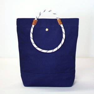 Image of MOLTON TOTE Navy (T)