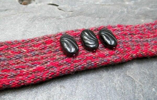 Image of SALE! Meditation, handmade kumihimo cuff