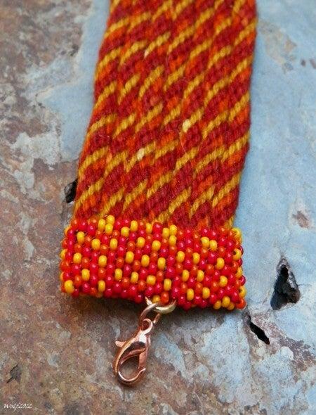 Image of SALE! Autumn II, handmade kumihimo cuff