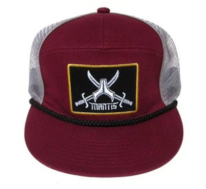 Image of ON SALE !! SIGNATURE 5 PANEL BURGANDY SNAPBACK