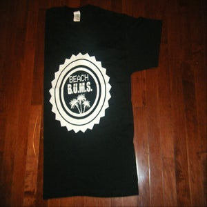 Image of Beach B.U.M.S. Black T-shirt