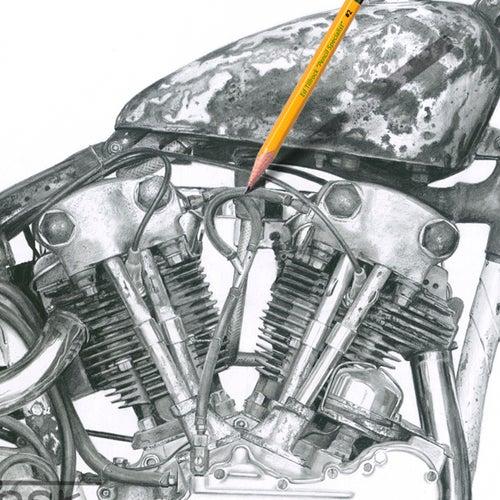 """Image of """"Drag'n Knuckles"""" 11x17 print"""