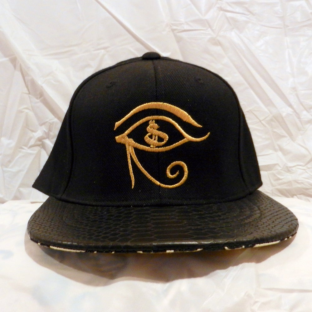 "Image of Black Snakeskin ""Eye on the Money""  Snapback"