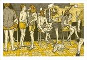 Image of RENNIE ELLIS 'AT THE PUB, BRISBANE 1982' Print (Yellow)