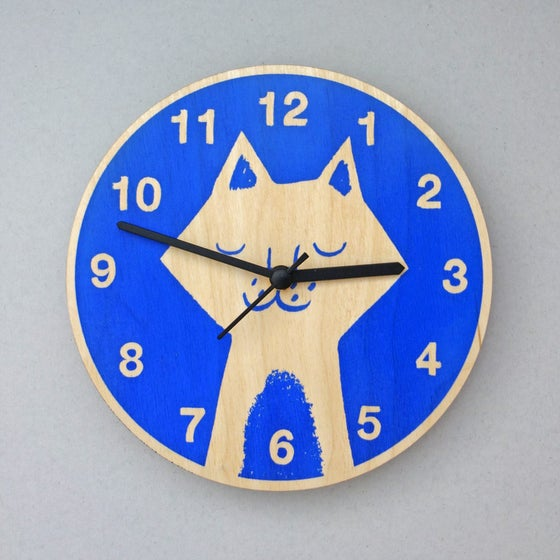 Image of Silent Wall Clock | Cat