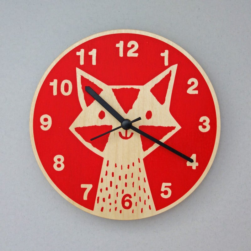 Image of Silent Wall Clock | Fox