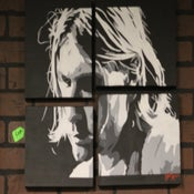 Image of kurt cobain of nirvana custom Painting by Chris G from san diego california