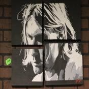 Image of kurt cobain of nirvana custom Painting by Chris G from san diego california