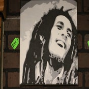 Image of Bob Marley custom painting by Chris G from san diego california