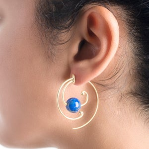 Image of Tuareg Spiral Earrings with diamonds
