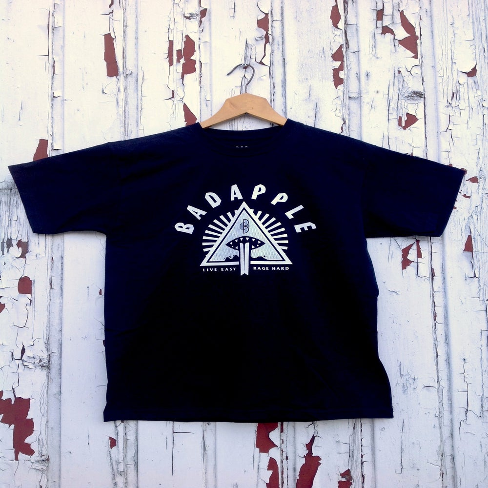 Image of Badapple Logo Tee Black/Print White