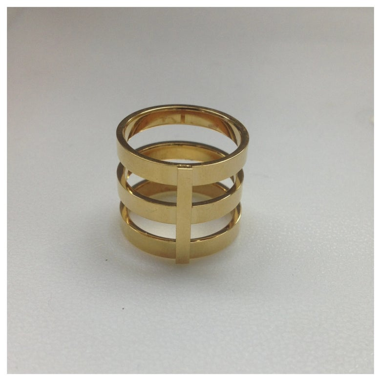 Image of Tri Band Knuckle Ring