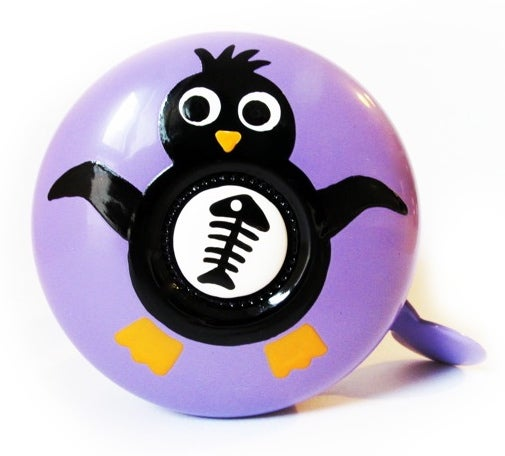 Image of pingouin sur mauve - penguin on purple