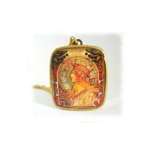 Image of Mucha Zodiac Music Box Pendant