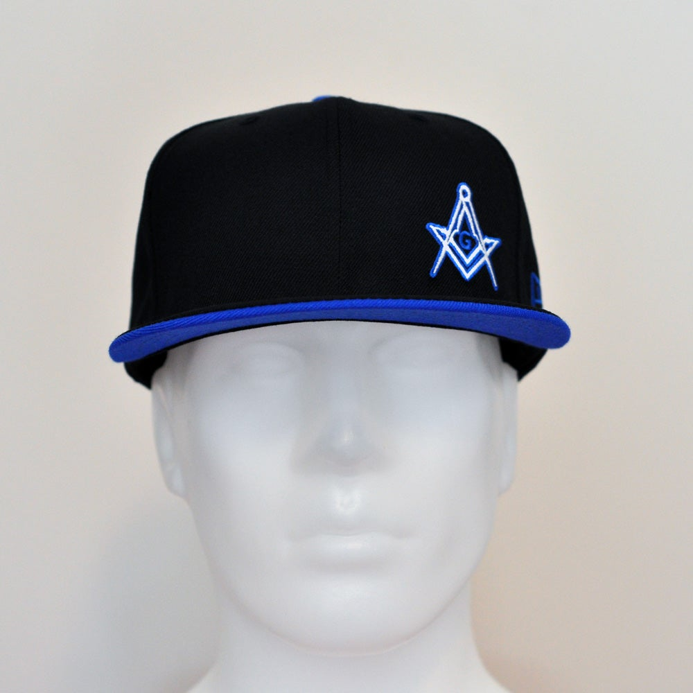 Image of Special Edition Black/Azure wool fitted flawless