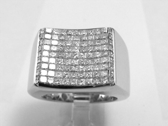 "Image of Men's ""Invisible Bully"" White Gold Ring"