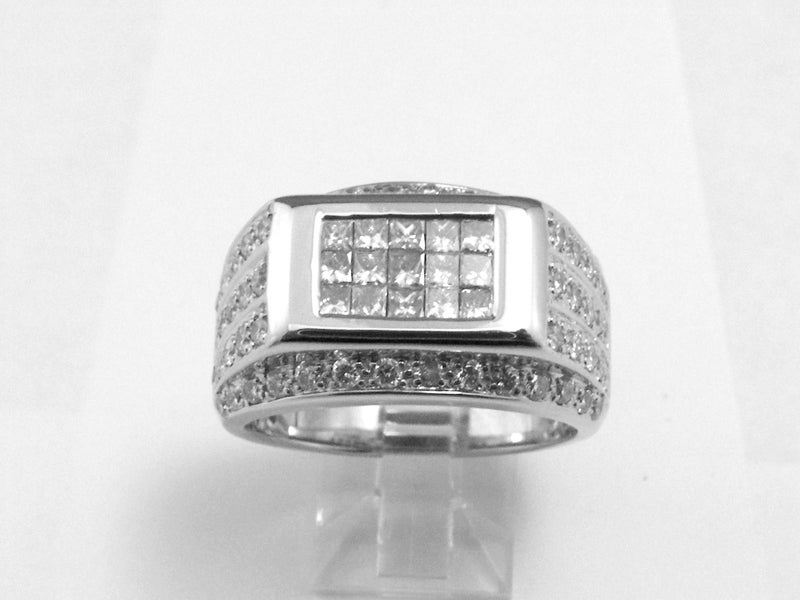 Image of Men's invisible & pave set ring