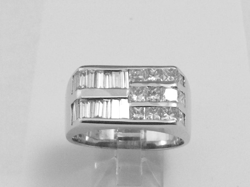 "Image of Men's ""fusion"" white gold ring"