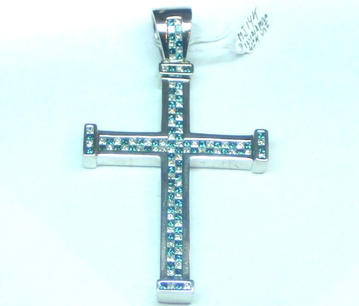Image of Blue & White Invisible set Cross