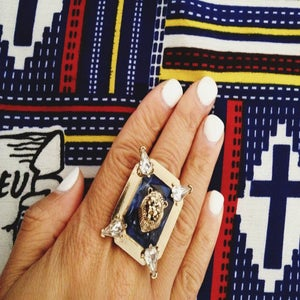 Image of Lion Head Statement Ring