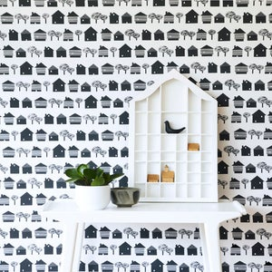 Image of JUST ARRIVED!    Smalltown wallpaper in Hastings.