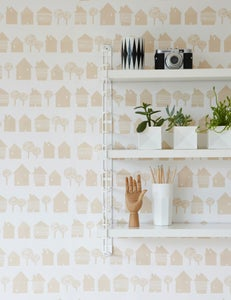 Image of Smalltown wallpaper in shell pink