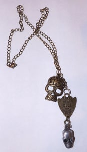Image of Skull 13 Dog Tag Necklace