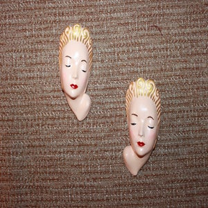 Image of Vintage reproduction lady heads for your boudoir or vanity area.