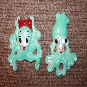 Image of Vintage reproduction Miller Studios Mr. and Mrs. squid and octopus