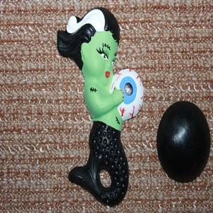 Image of Retro vintage reproduction chalkware mermaid zombie babies and bubbles