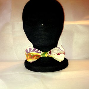 Image of Earth Tone Floral Print Bow Tie