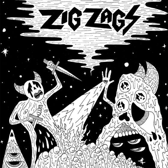 """Image of ZIG ZAGS - 'Scavenger / Monster Wizard' 7"""" Vinyl"""