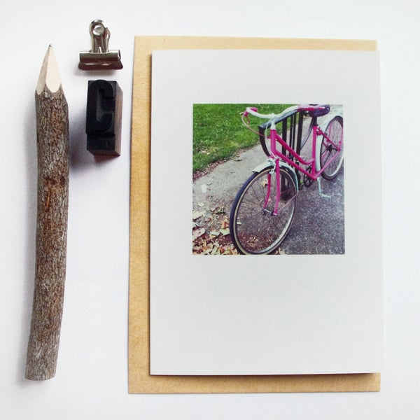 Image of Carte et enveloppe/ Bicycle