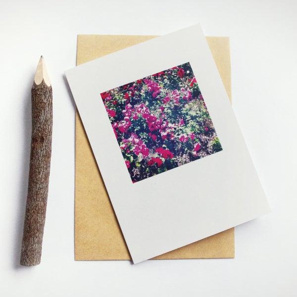 Image of Carte et enveloppe/ Flowers