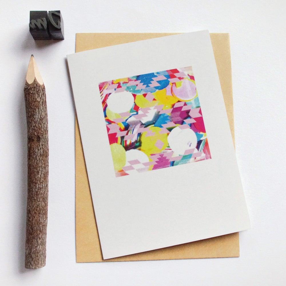 Image of Carte et enveloppe/ Confettis