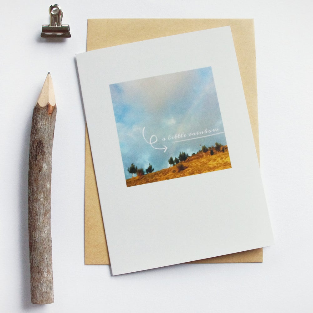 Image of Carte et enveloppe/ A little rainbow