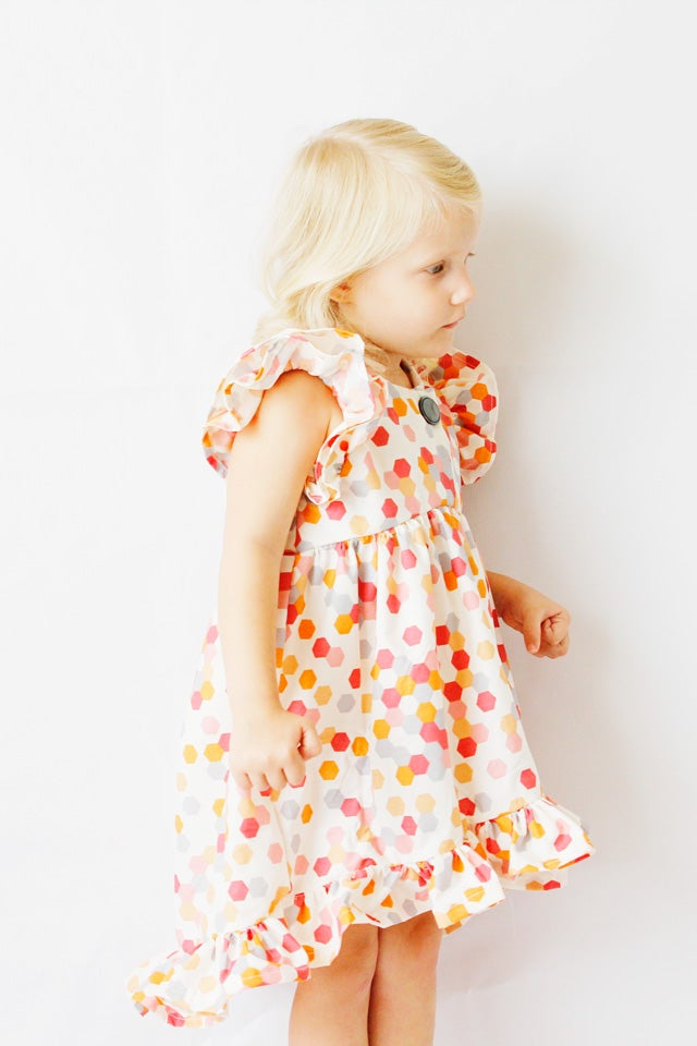 Image of the DAYDREAM ruffle dress PDF sewing pattern
