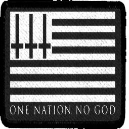 Image of One Nation No God - Embroidered Patch