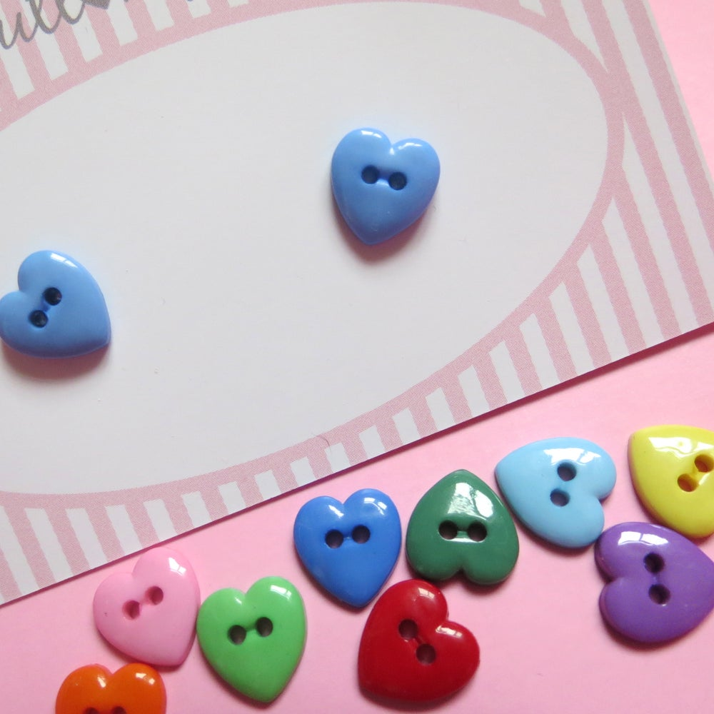 Image of Tiny Heart Button Earrings