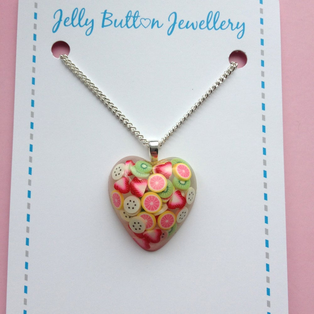 Image of Summer Fruits Heart Necklace